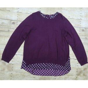 3/$25 ** NYDJ Purple Long Sleeve Sheer  XL